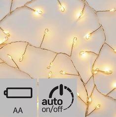 EMOS 100 LED reťaz nano – ježko, 2,4m, jantarová, časovač