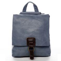 Paolo Bags Mestský koženkový batoh Enjoy City, svetlo modrý