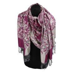 Cashmere Luxusná dámska šála Flower s trblietkami, purpurová