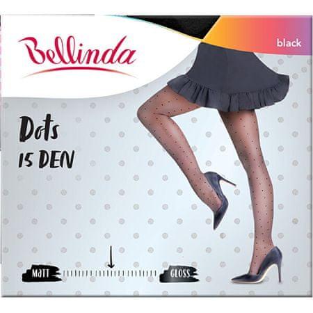 Bellinda Ženske hlačne nogavice Dots 15 DEN Black BE211004-094 (Velikost L)