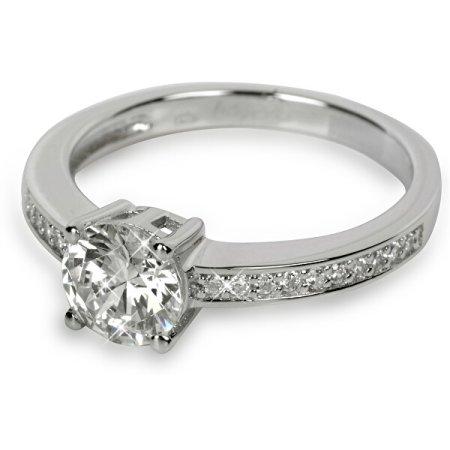Silver Cat Ezüst gyűrű kristályokkal SC031 (Kerület 56 mm) ezüst 925/1000