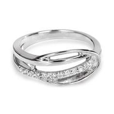 Silver Cat Srebrni prstan s kristali SC160 srebro 925/1000