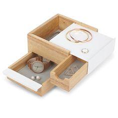 Umbra Šperkovnica STOWIT mini biela / prírodná 1005314390