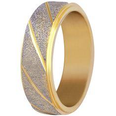 Troli Ocelový bicolor třpytivý prsten