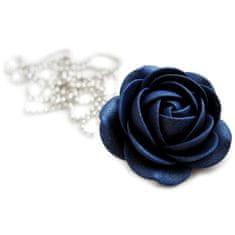 Troli Trblietavý modrý náhrdelník kytička