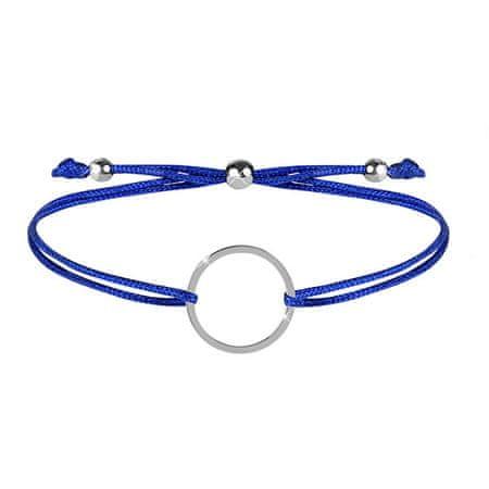 Troli Zapestnica iz vrvice z modrim / jeklenim obročkom