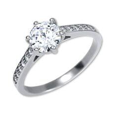 Brilio Silver Stříbrný zásnubní prsten 426 001 00536 04 stříbro 925/1000