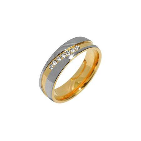 Silvego Zaangażowanie stalowy pierścień dla kobiet MARIAGE RRC2050-Z (obwód 56 mm)