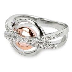 Silver Cat Srebrni prstan s kristali SC025 srebro 925/1000
