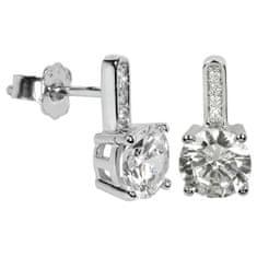 Silver Cat Ezüst fülbevaló kristályokkal SC033