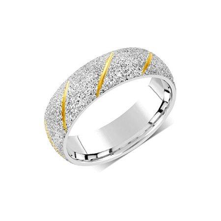 Silvego Poročni prstan za moške in ženske iz jekla RRC22799 (Obseg 62 mm)