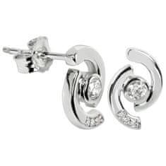Silver Cat Ezüst fülbevaló kristályokkal SC114