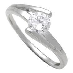 Brilio Silver Strieborný zásnubný prsteň 7111048 striebro 925/1000