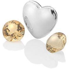 Hot Diamonds Elementi s citrinami Anais november EX130 srebro 925/1000