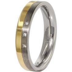 Boccia Titanium Snubný titánový prsteň s diamantmi 0129-04