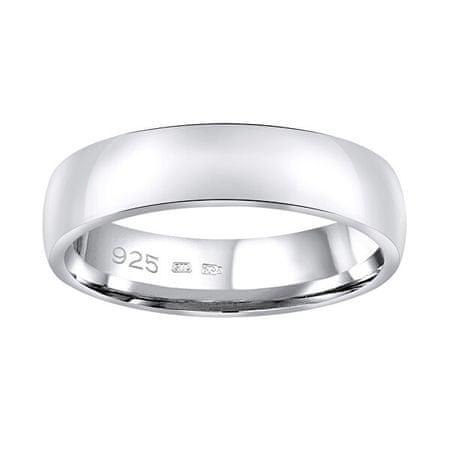 Silvego Esküvői ezüst gyűrű Poesia férfiaknak és nőknek QRG4104M (Kerület 67 mm) ezüst 925/1000