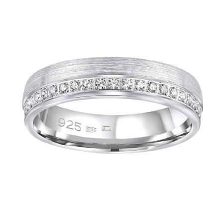 Silvego Esküvői ezüst gyűrűs paradicsom nőknek QRGN23W (Kerület 56 mm) ezüst 925/1000