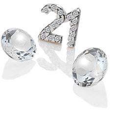 """Hot Diamonds Element """"21"""" s cirkoni in topazom EX210 srebro 925/1000"""