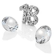 """Hot Diamonds Element """"18"""" s cirkoni in topazom EX208 srebro 925/1000"""