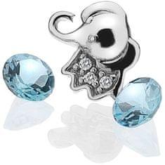 Hot Diamonds Element Otroški slon s topazom EX098 srebro 925/1000