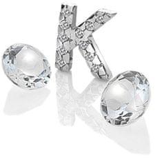 "Hot Diamonds Element črka ""K"" s topazom Anais EX230 srebro 925/1000"