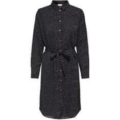 Jacqueline de Yong Dámske šaty JDYPINEY 15212115 Black WHITE DOTS