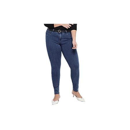 Only Carmakoma Damskie jeansy CARTHUNDER PUSH UP 15174945MediumBlueDenim (Wielkość XXL)
