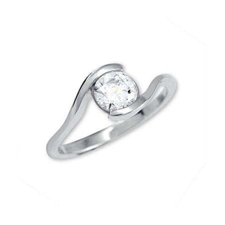 Brilio Silver Srebrni zaročni prstan 426 001 00422 04 (Obseg 56 mm) srebro 925/1000