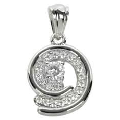 Silver Cat Srebrn obesek s kristali SC020 srebro 925/1000