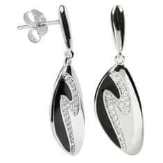 Silver Cat Ezüst fülbevaló kristályokkal SC036