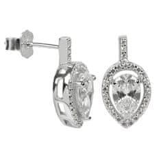 Silver Cat Ezüst fülbevaló kristályokkal SC072