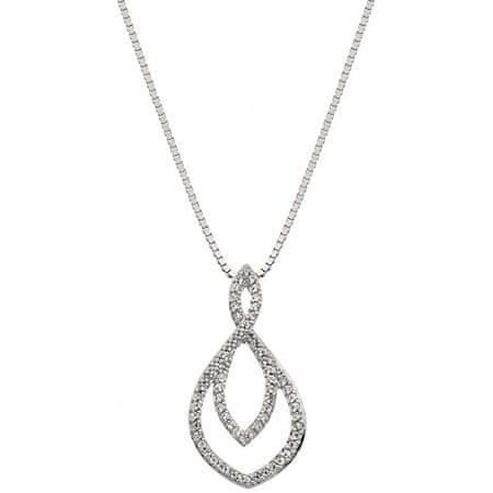 Hot Diamonds Srebrny naszyjnik z prawdziwym diamentem Lily DP733 srebro 925/1000