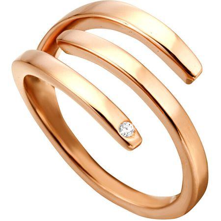 Esprit Iva elegáns vörös arannyal bevontgyűrű ESRG001616 (Kerület 51 mm-es)