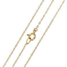 Brilio Elegantní zlatý řetízek Anker 50 cm 271 115 00274