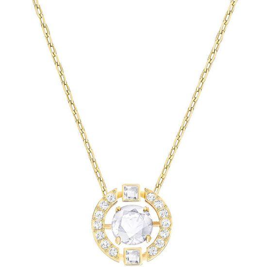 Swarovski Pozlátený náhrdelník SPARKLING DANCE 5284186