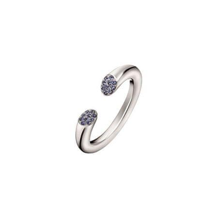 Calvin Klein Nyitott nemesacél gyűrű kristállyal Brilliant KJ8YMR0402 (Kerület 52 mm)