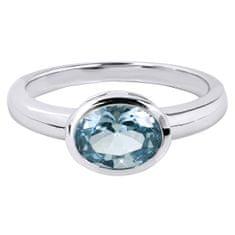 Silver Cat Nežen prstan z modrim kristalom SC261 srebro 925/1000