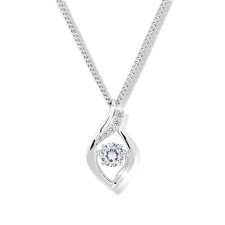 Modesi Lepa ogrlica s kristalom in cirkoni M43066 (veriga, obesek) srebro 925/1000