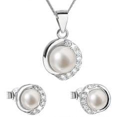 Evolution Group Luxusní stříbrná souprava s pravými perlami Pavona 29022.1 (náušnice, řetízek, přívěsek) stříbro 925/1000