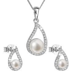Evolution Group Luxusná strieborná súprava s pravými perlami Pavona 29027.1 (náušnice, retiazka, prívesok) striebro 925/1000