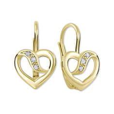 Brilio Náušnice ze žlutého zlata s krystaly 239 001 00910