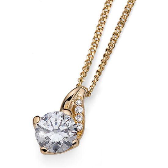 Oliver Weber Stříbrný náhrdelník Succes 61139G (řetízek, přívěsek) stříbro 925/1000