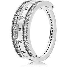 Pandora Luxusný strieborný prsteň 197404CZ striebro 925/1000