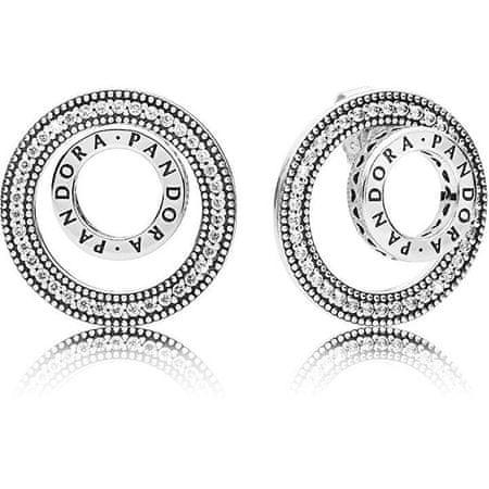 Pandora Luksusowe srebrne kolczyki 297446 CZ