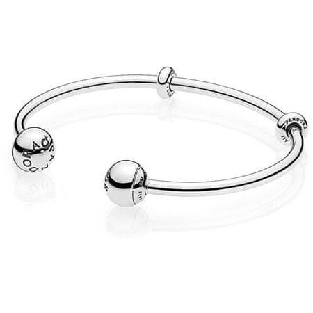 Pandora 596477 szilárd ezüst karkötő karkötő (Hossza 17,5 cm)