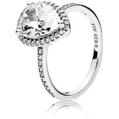 Pandora Oslnivý strieborný prsteň 196251CZ striebro 925/1000