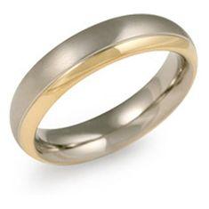 Boccia Titanium Pozlačen prstan iz titana 0130-08