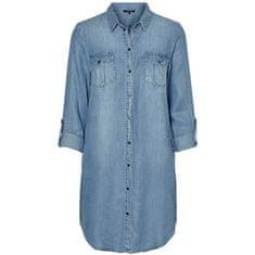 Vero Moda Dámské šaty VMSILLA 10184172 Light Blue Denim