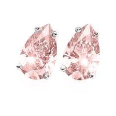 Oliver Weber Srebrni uhani s kristalno hruško 62089 ROS