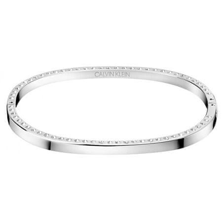 Calvin Klein Tömör acél karkötő a KJ06MD04040-es Hook kristályokkal (dimenzió 5,8 x 4,6 cm - S)